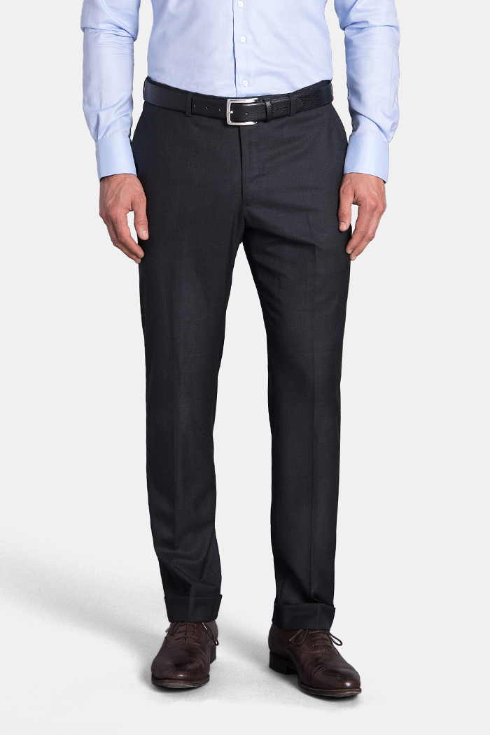 Mercer Charcoal S150s Wool Trouser