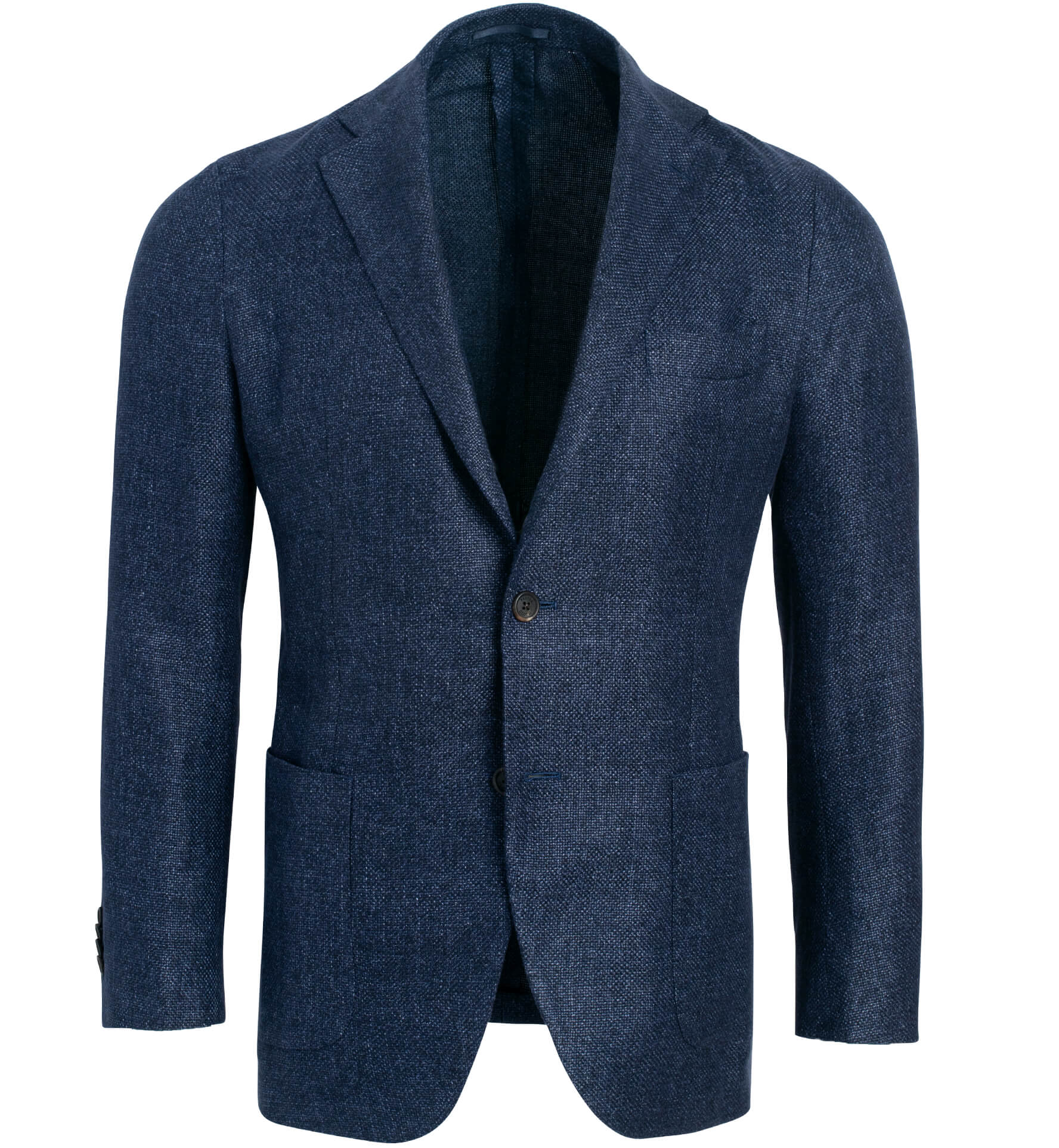 Zoom Image of Waverly Navy Hemp and Wool Basketweave Jacket