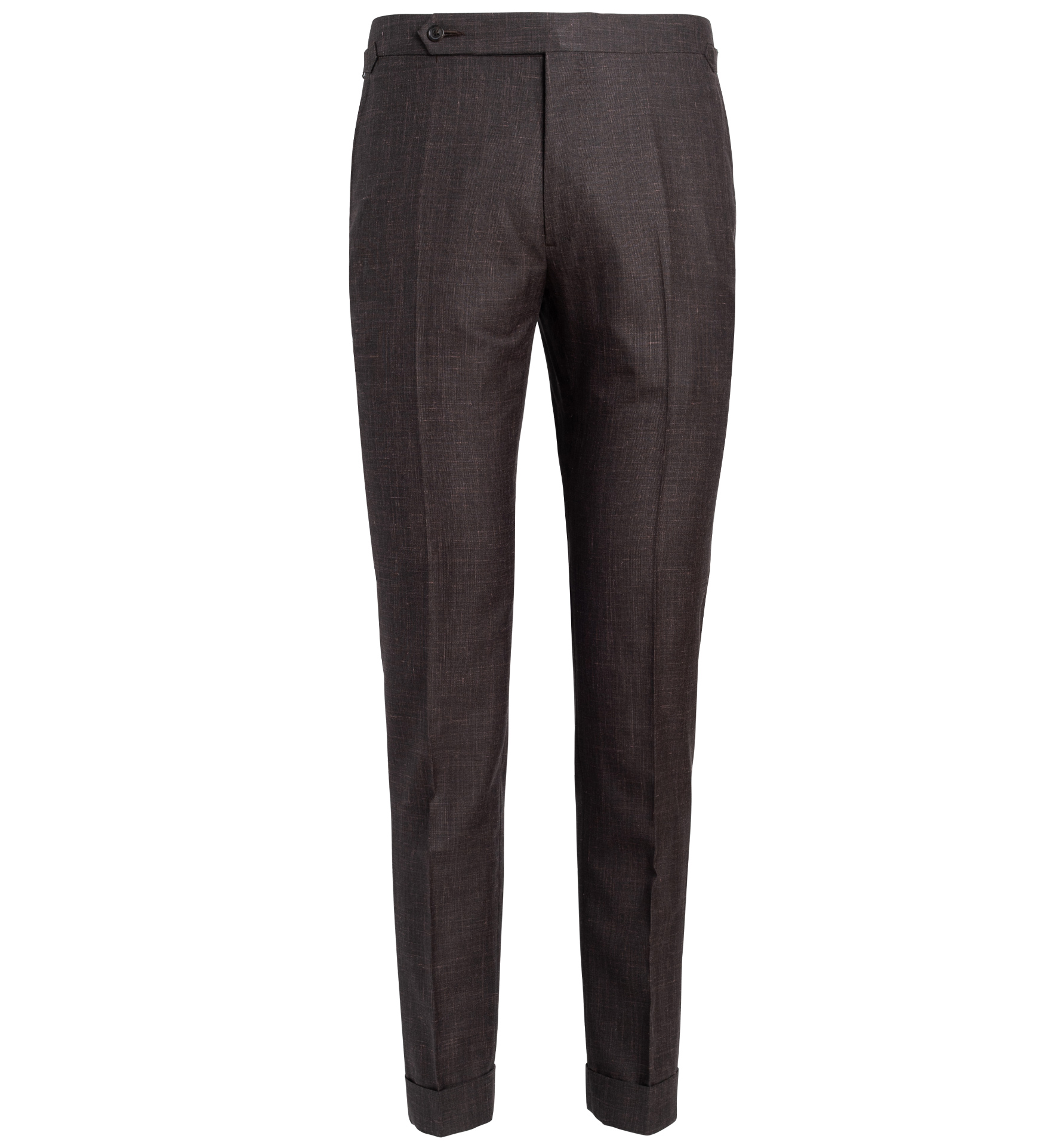 Zoom Image of Allen Chocolate Wool Silk and Linen Trouser