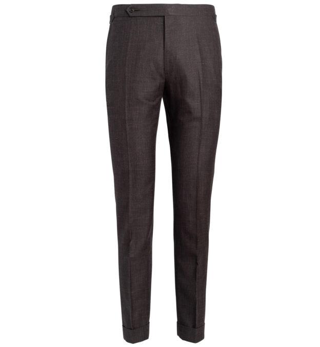 Allen Chocolate Wool Silk and Linen Trouser
