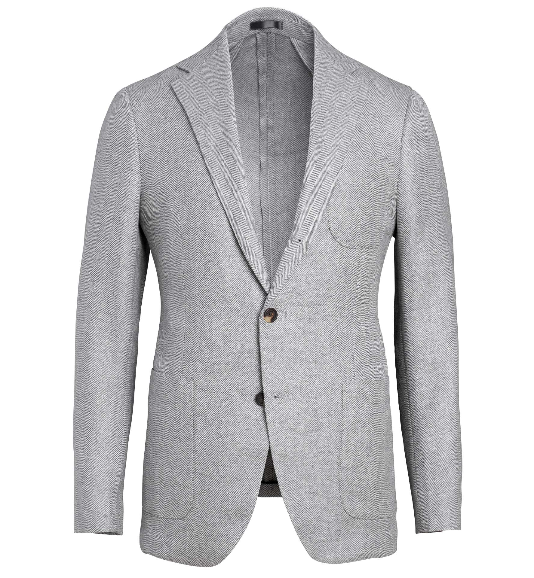 Zoom Image of Bedford Light Grey Wool and Linen Herringbone Jacket