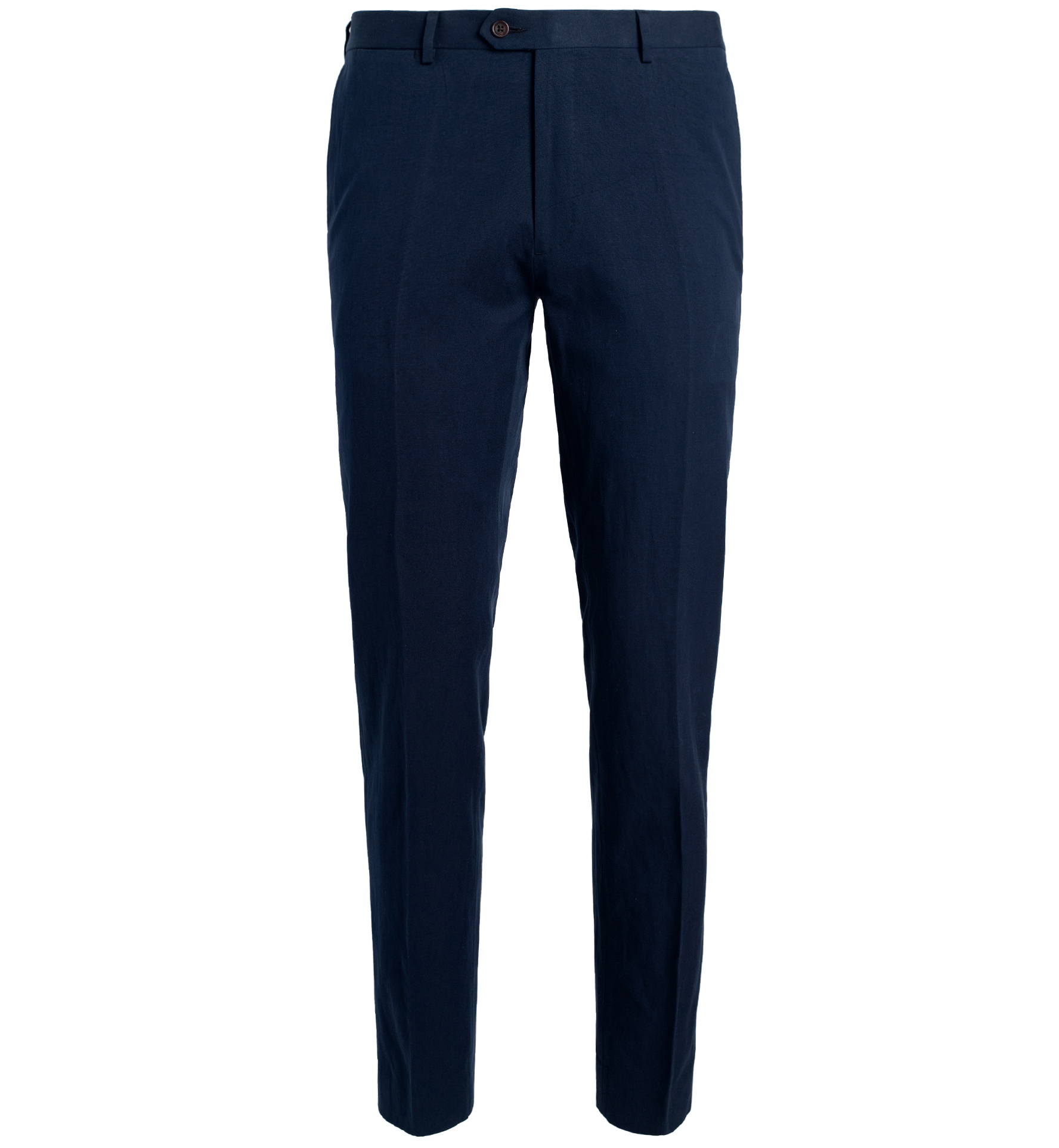 Zoom Image of Allen Navy Cotton and Linen Canvas Trouser