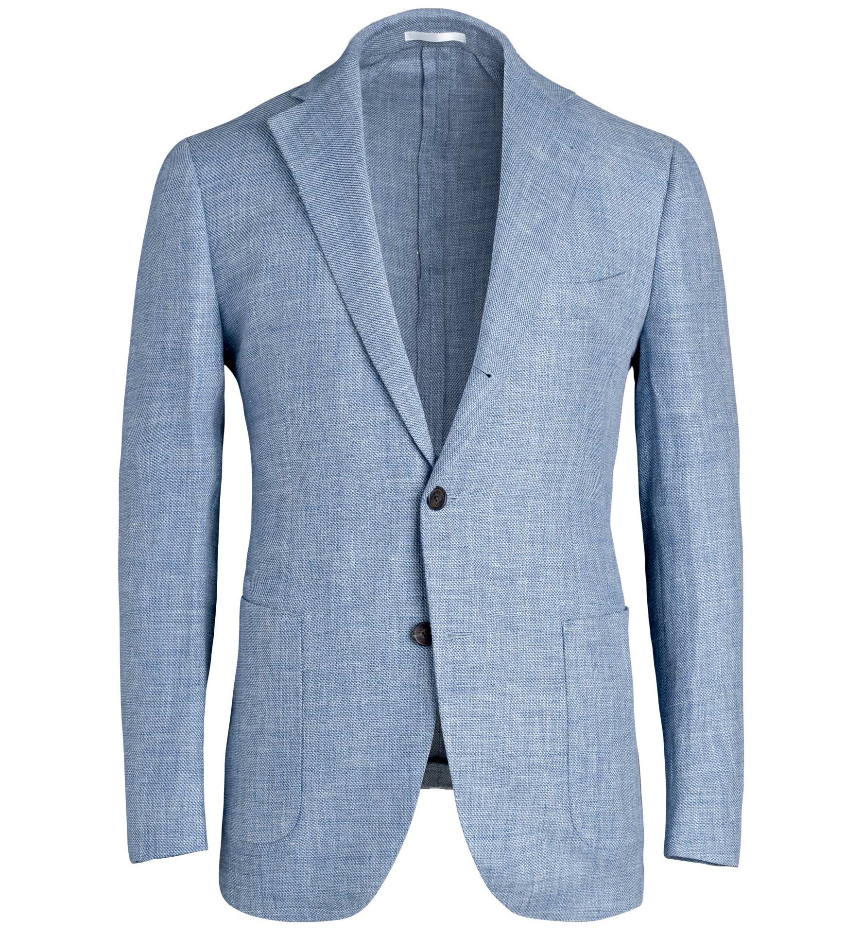 Zoom Image of Bedford Sky Blue Wool and Linen Hopsack Jacket