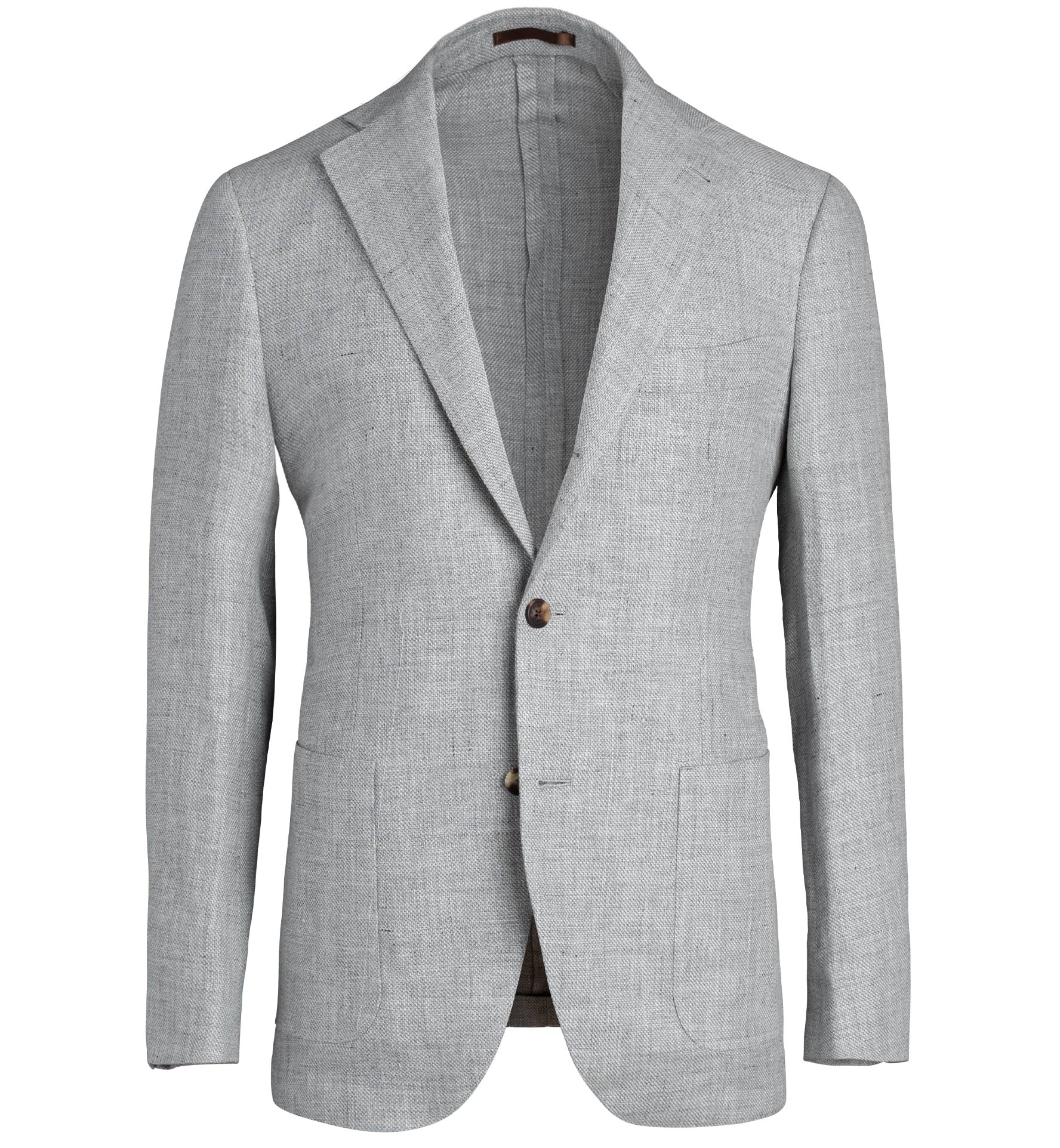 Zoom Image of Bedford Light Grey Wool and Linen Basketweave Jacket