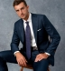 Zoom Thumb Image 13 of Allen Navy S110s Glen Plaid Suit with Cuffed Trouser