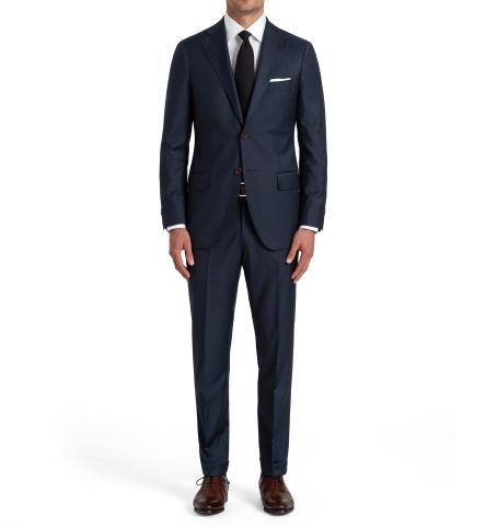 707474e10e5d Allen Navy S110s Glen Plaid Suit with Cuffed Trouser - Custom Fit ...
