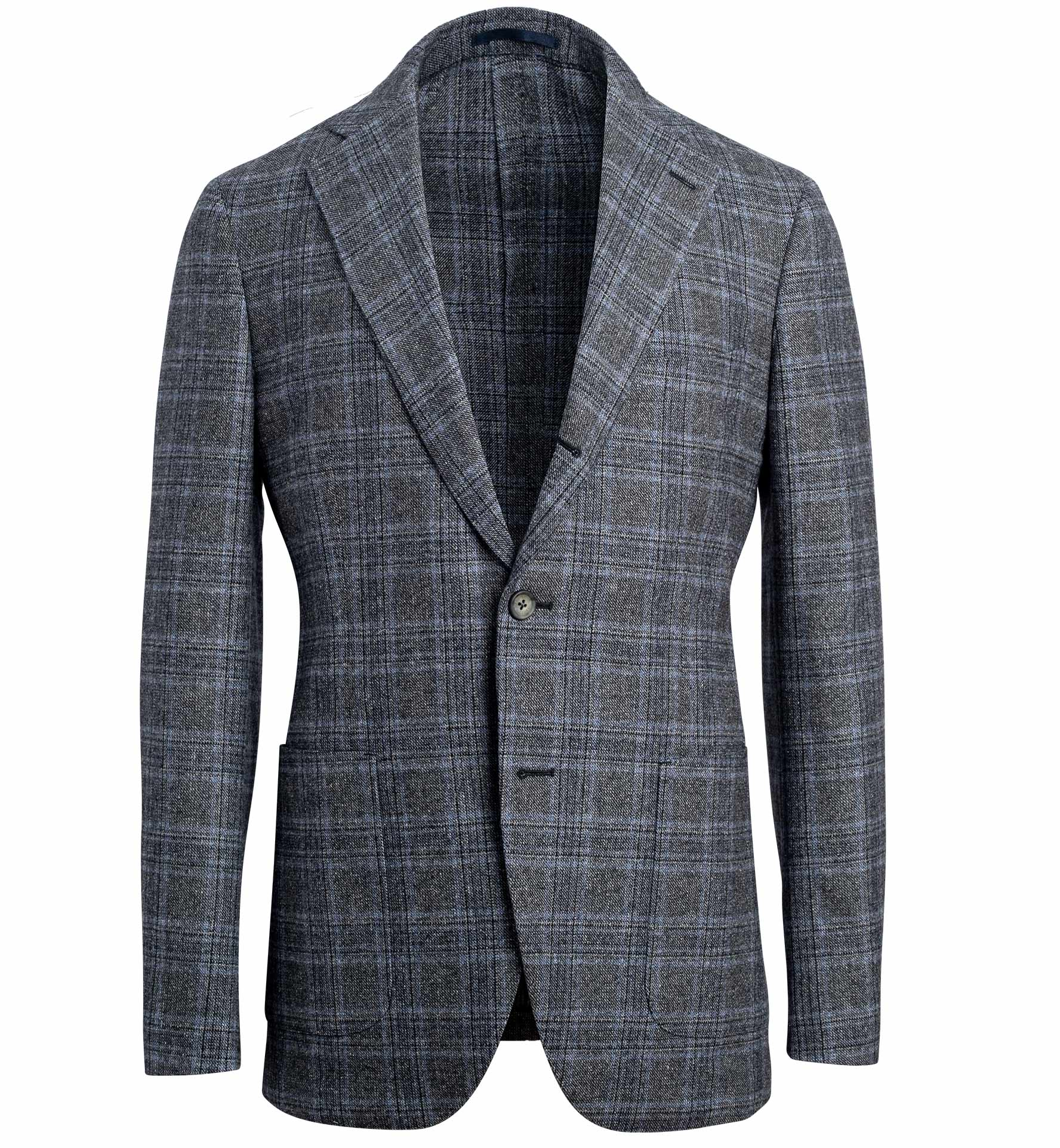 Zoom Image of Bedford Grey Plaid Donegal Wool and Silk Jacket