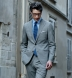 Zoom Thumb Image 14 of Allen Grey Lightweight Fresco Wool Suit with Cuffed Trouser