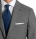 Zoom Thumb Image 2 of Allen Grey Lightweight Fresco Wool Suit with Cuffed Trouser
