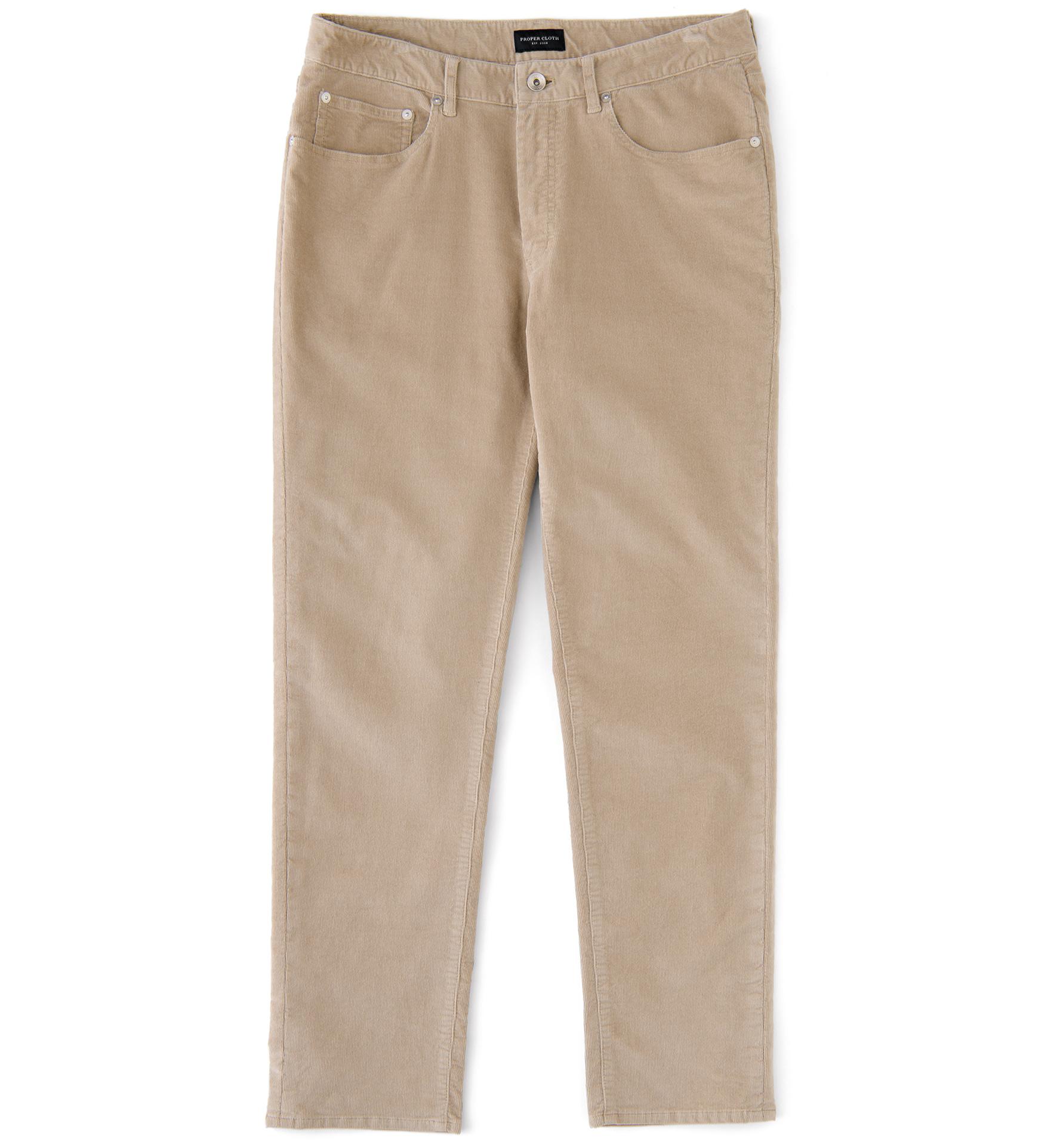 Zoom Image of Sullivan Sand Stretch Corduroy 5-Pocket Pant