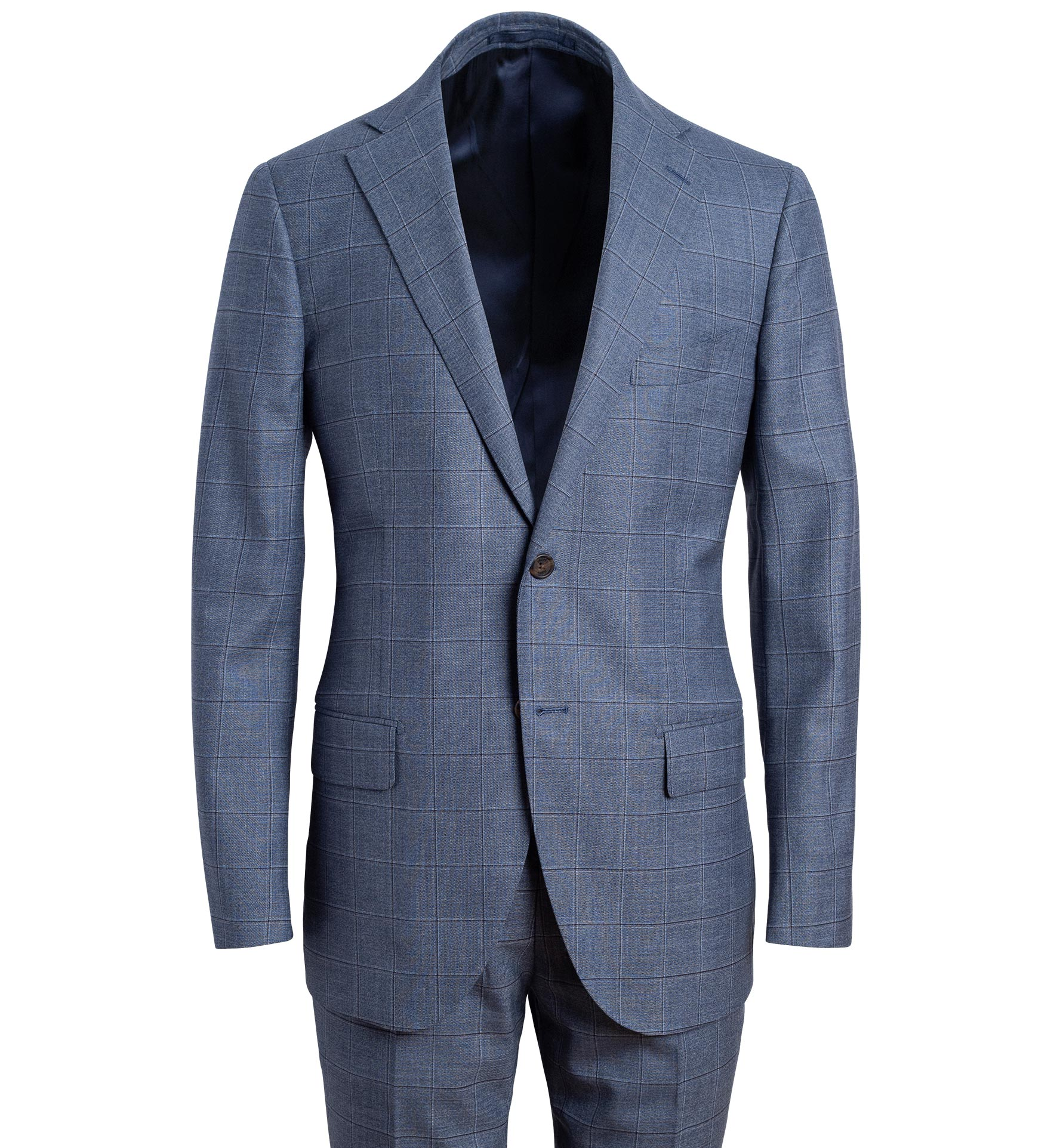 Zoom Image of Allen Light Slate S130s Windowpane Suit