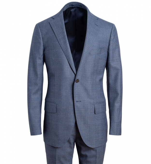 Allen Light Slate S130s Windowpane Suit