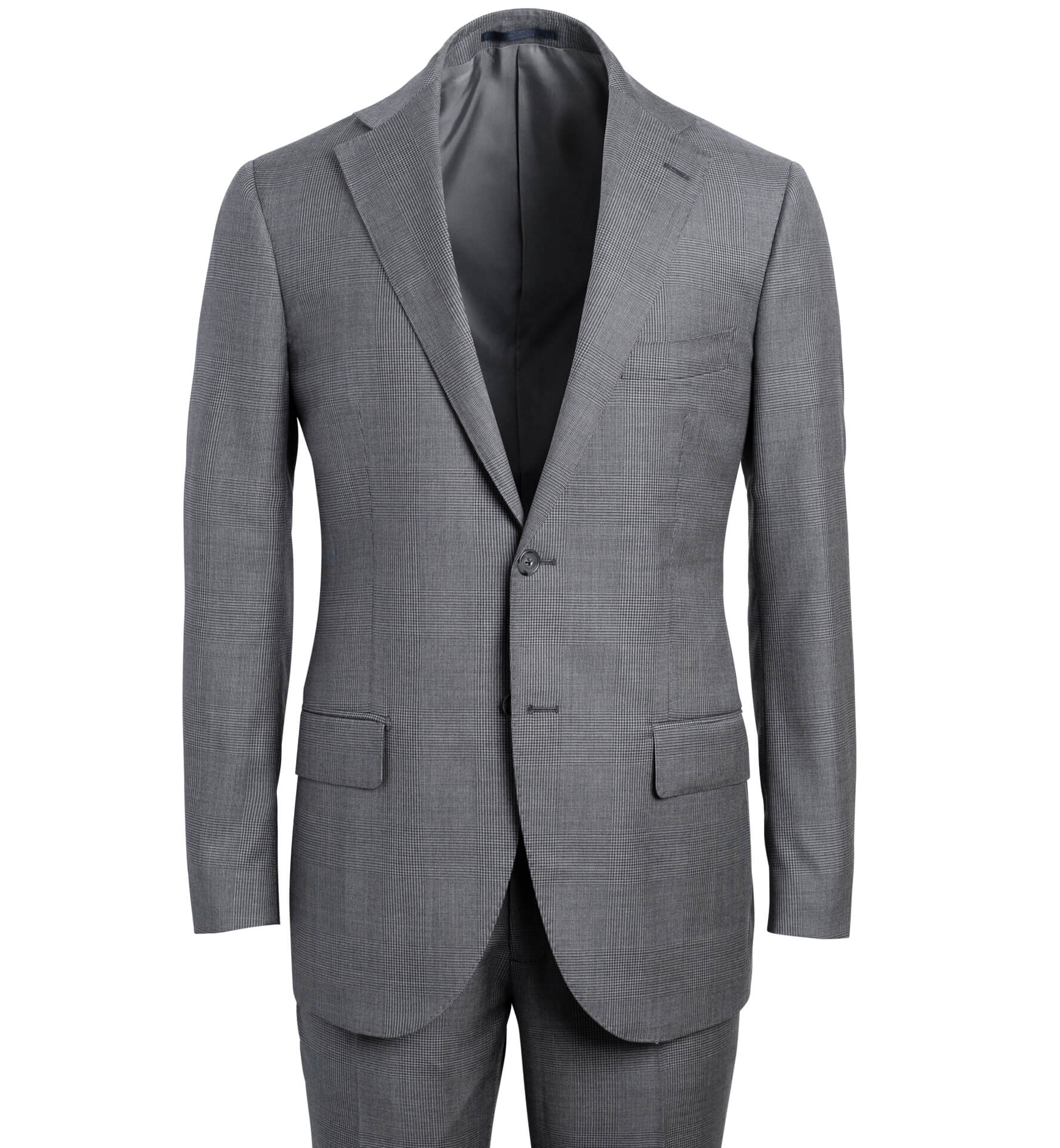 Zoom Image of Allen Grey S130s Large Glen Plaid Suit