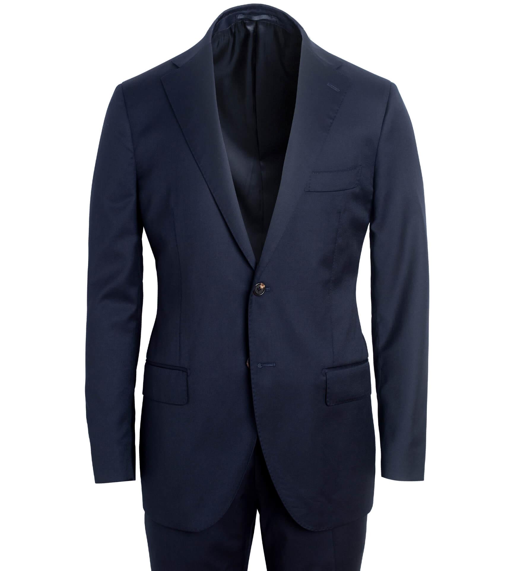 Zoom Image of Allen Navy S130s Wool Suit
