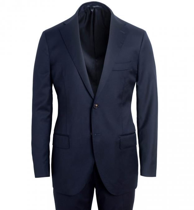 Allen Navy S130s Wool Suit