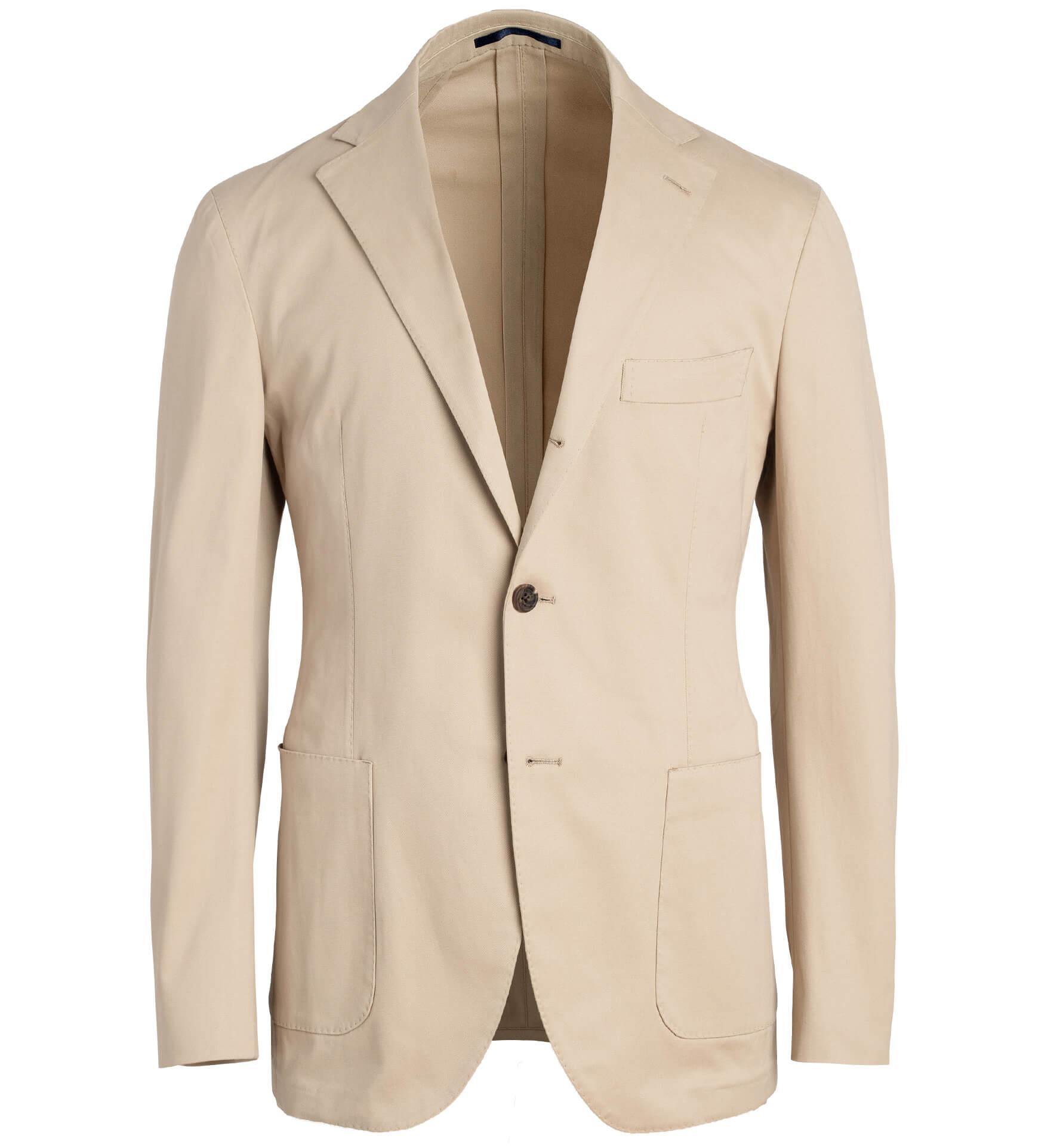 Zoom Image of Waverly Beige Stretch Cotton Jacket