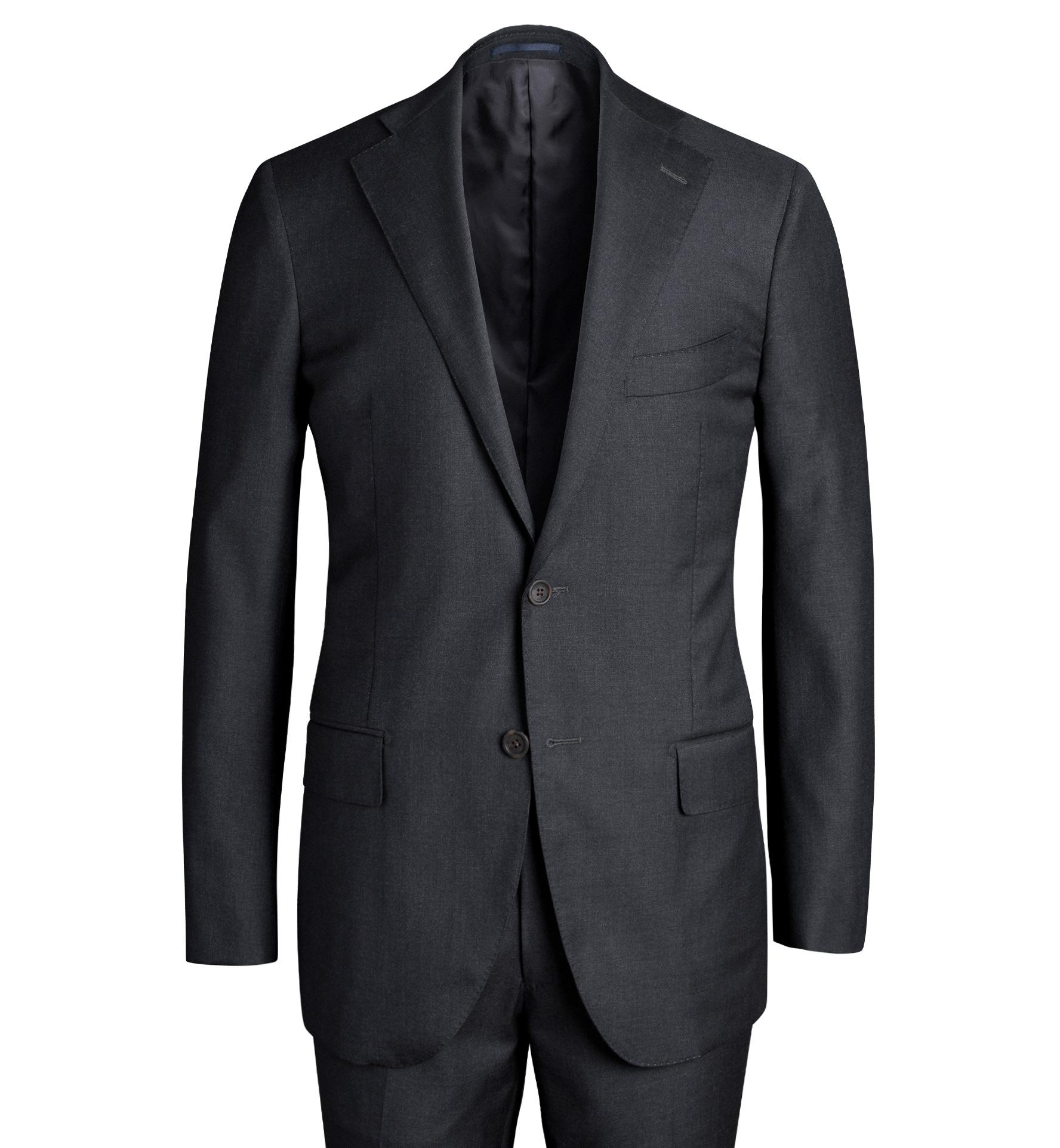 Zoom Image of Allen VBC Charcoal S110s Wool Suit