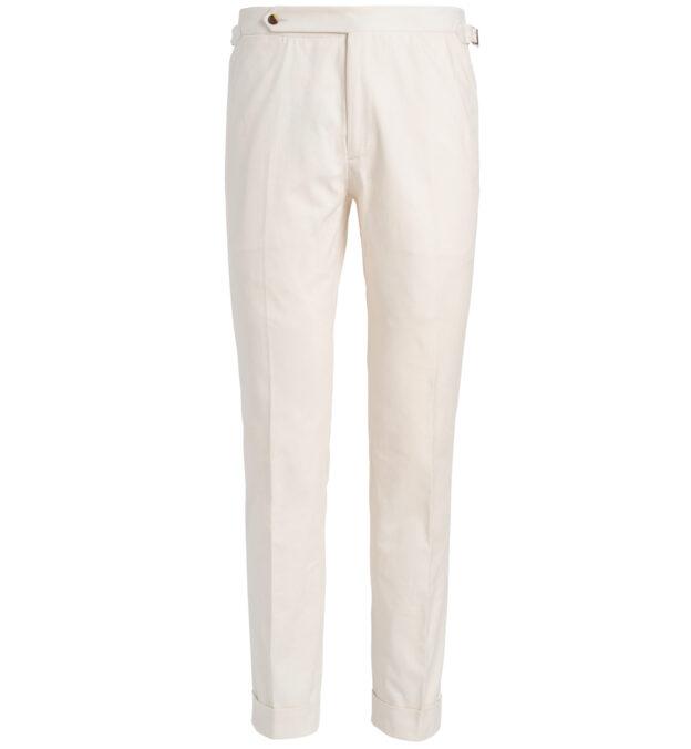 Allen Off White Shaved Cotton Trouser