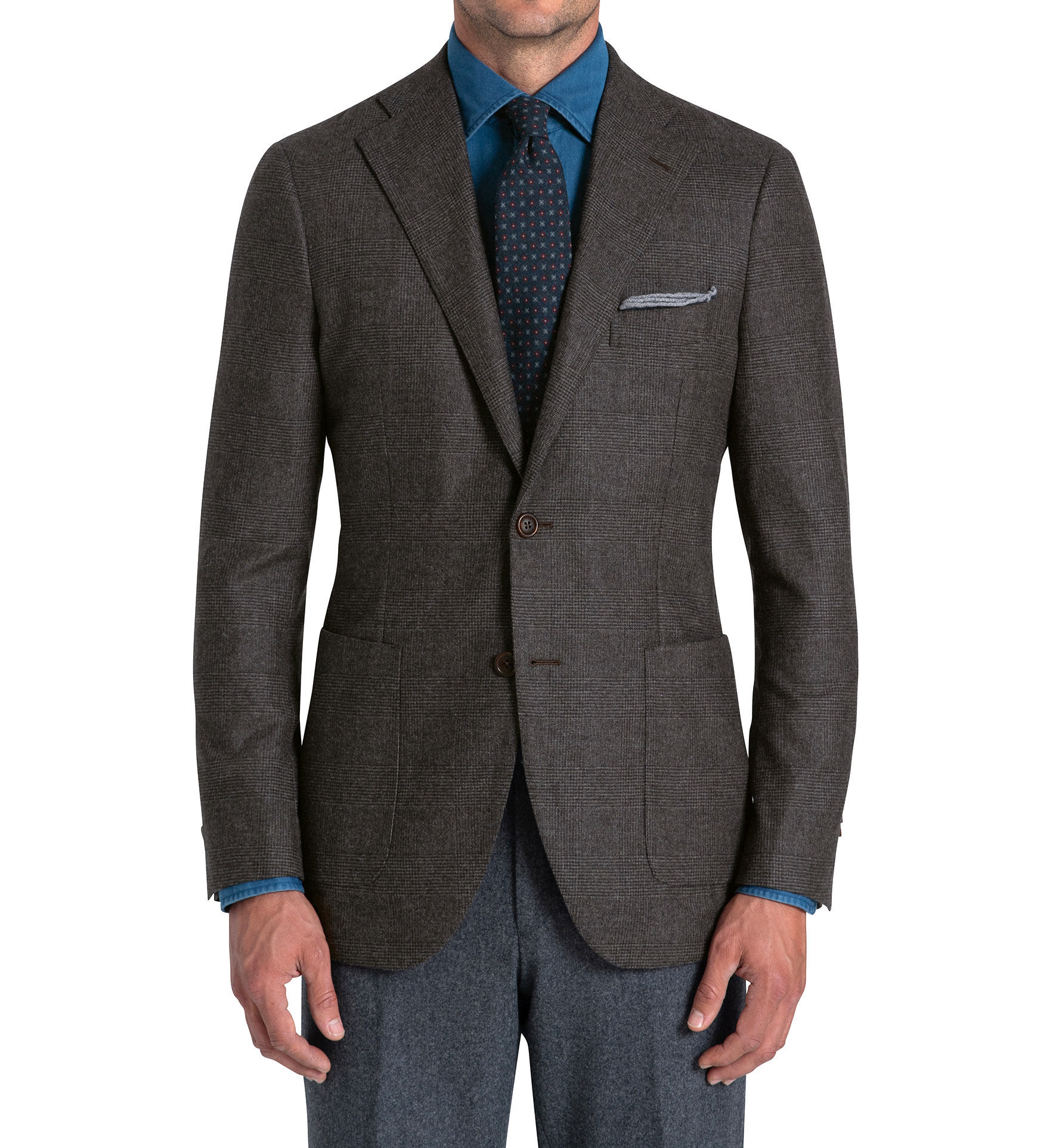 Zoom Image of Bedford Chestnut Glen Plaid Lightweight Wool Jacket