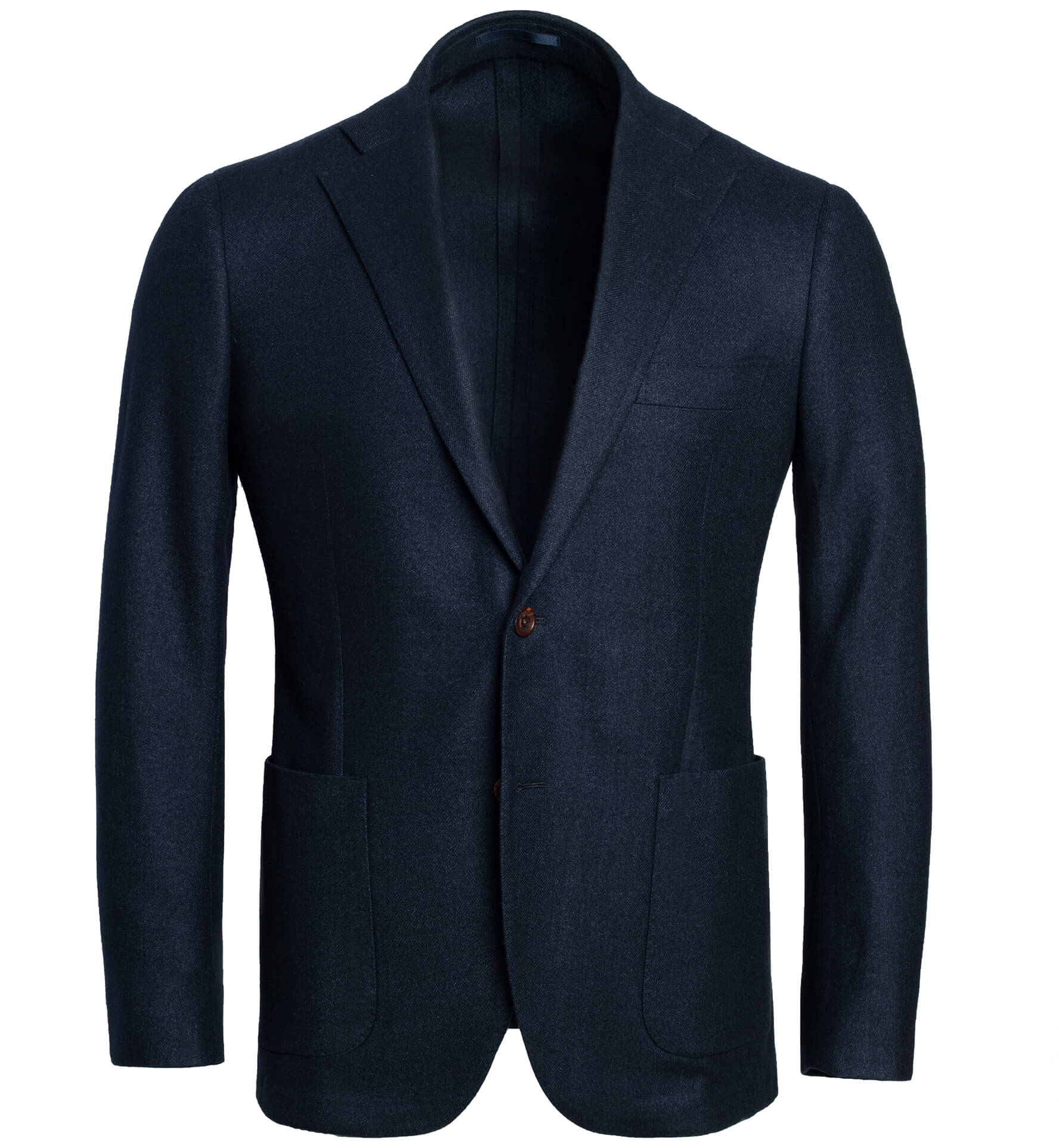 Zoom Image of Bedford Navy Wool Silk and Cashmere Flannel Jacket