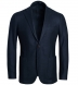 Zoom Thumb Image 1 of Bedford Navy Wool Silk and Cashmere Flannel Jacket
