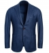 Zoom Thumb Image 1 of Bedford Ocean Blue Wool Silk and Cashmere Flannel Jacket