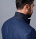 Zoom Thumb Image 6 of Bedford Ocean Blue Wool Silk and Cashmere Flannel Jacket