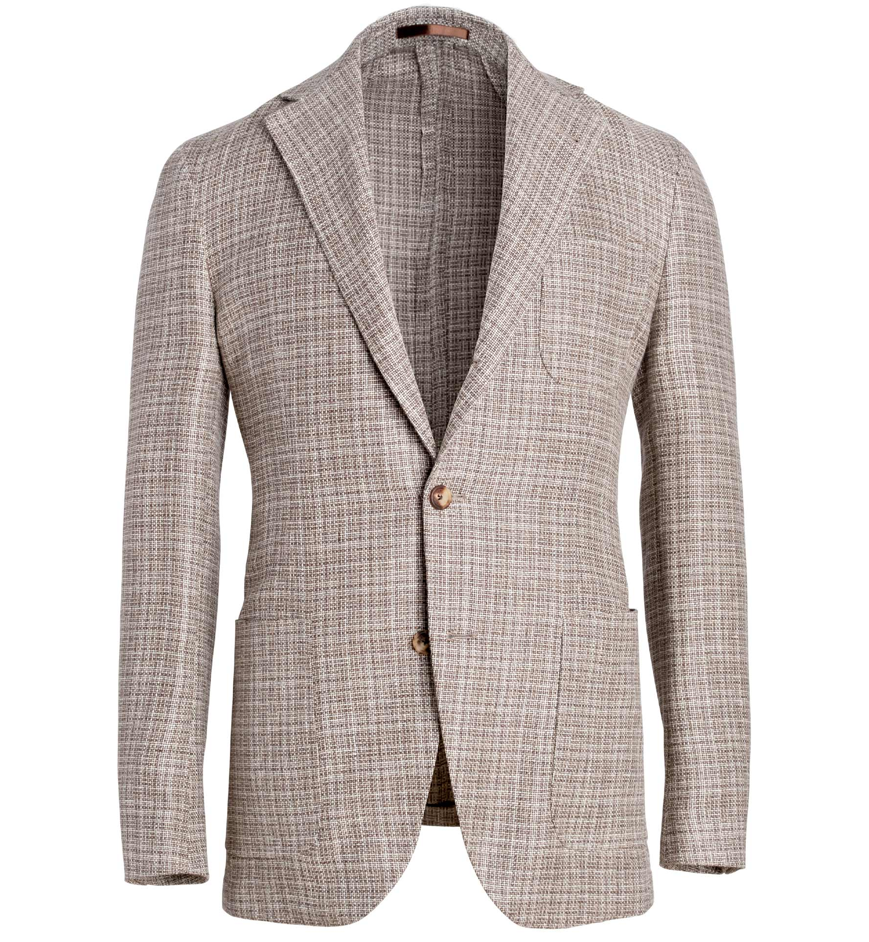 Zoom Image of Waverly Beige Hemp and Wool Basketweave Jacket