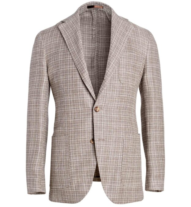 Waverly Beige Hemp and Wool Basketweave Jacket