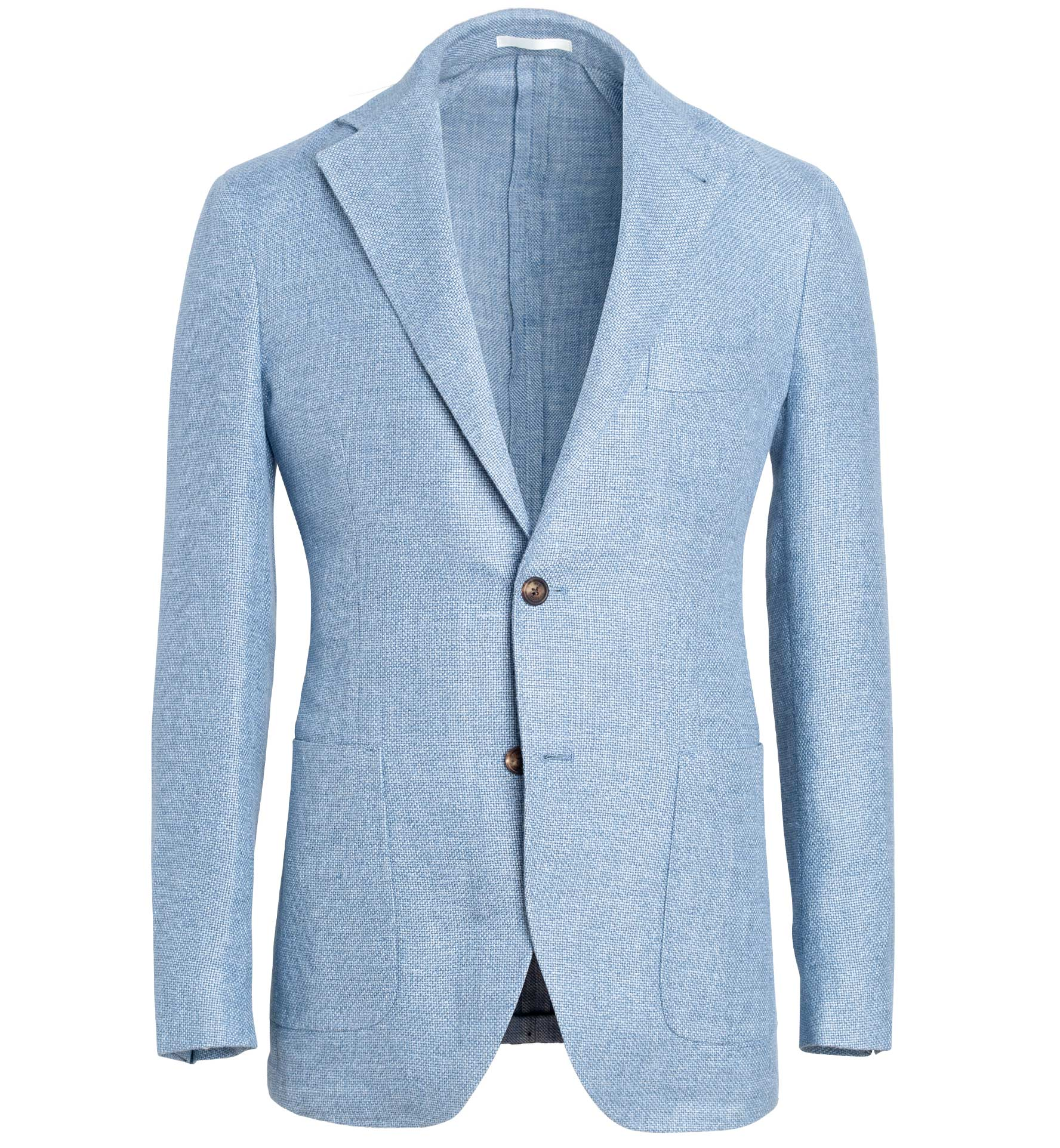 Zoom Image of Waverly Light Blue Hemp and Wool Basketweave Jacket