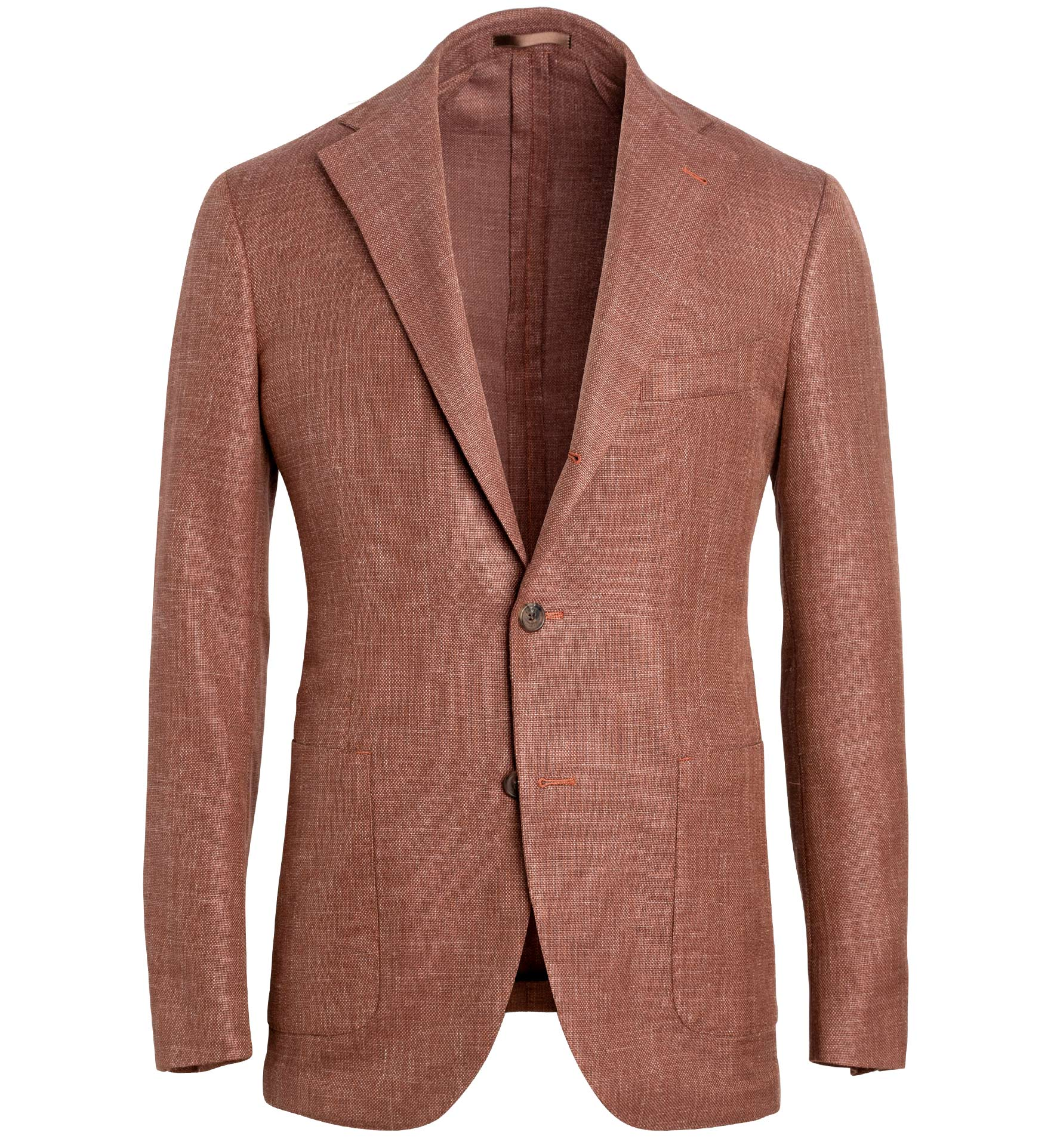 Zoom Image of Bedford Sienna Wool Blend Hopsack Jacket