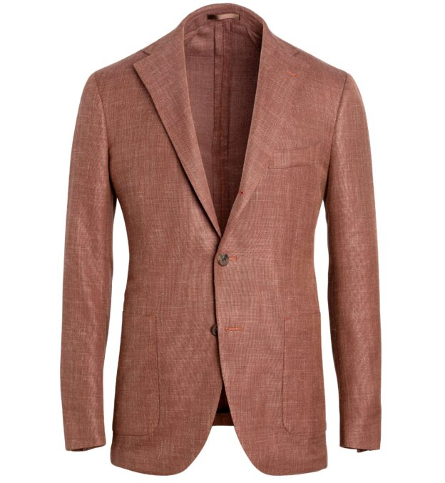 Bedford Sienna Wool Blend Hopsack Jacket