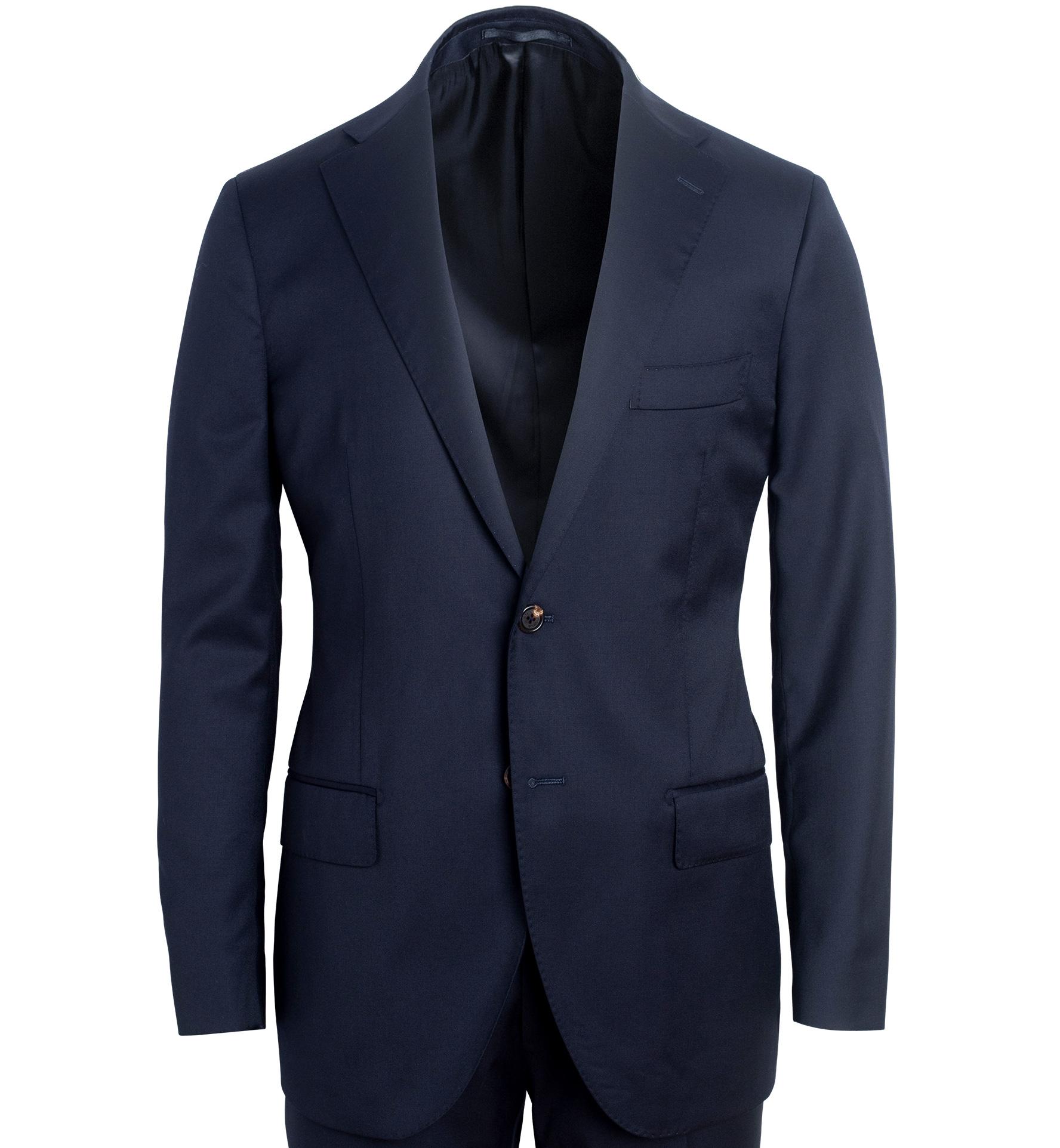 Zoom Image of Mercer Navy S130s Wool Suit Jacket