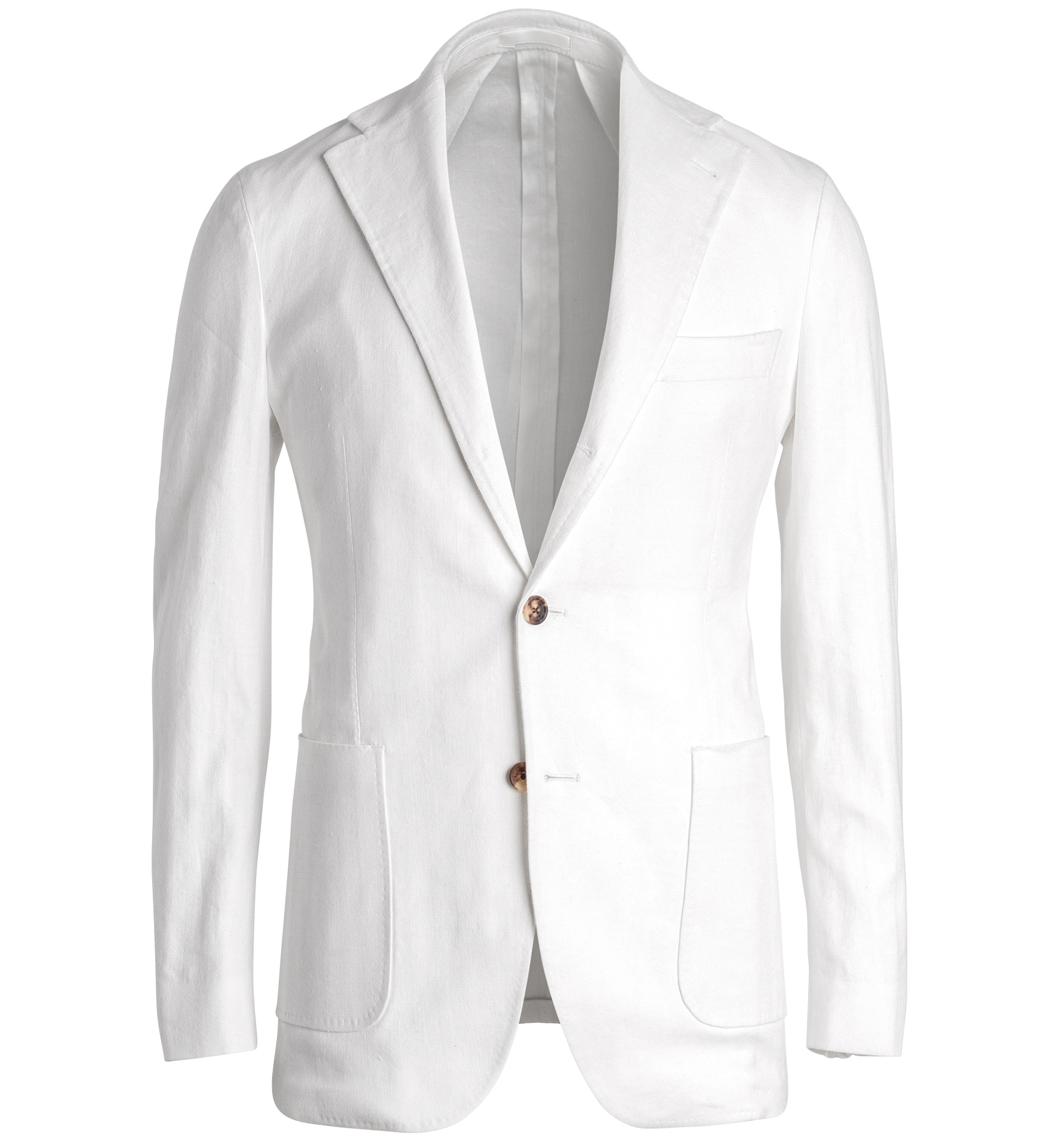 Zoom Image of Waverly White Cotton and Linen Stretch Herringbone Jacket