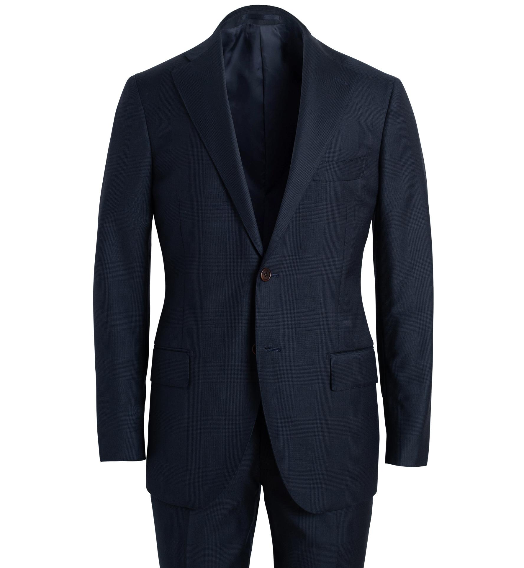 Zoom Image of Allen Navy S110s Glen Plaid Suit