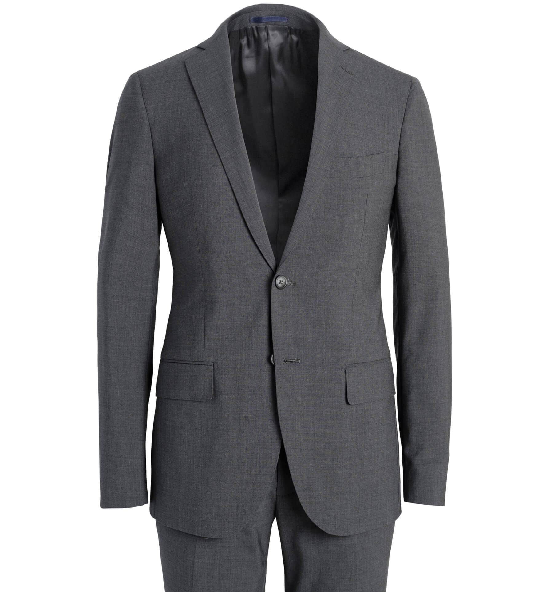 Zoom Image of Allen Stretch Grey Tropical Wool Suit