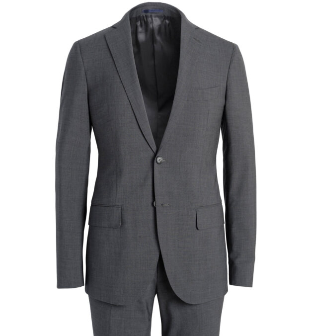 Allen Stretch Grey Tropical Wool Suit