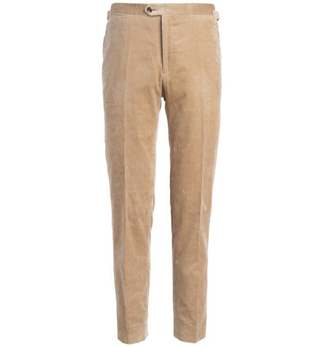 Allen Camel Lightweight Supima Corduroy Trouser