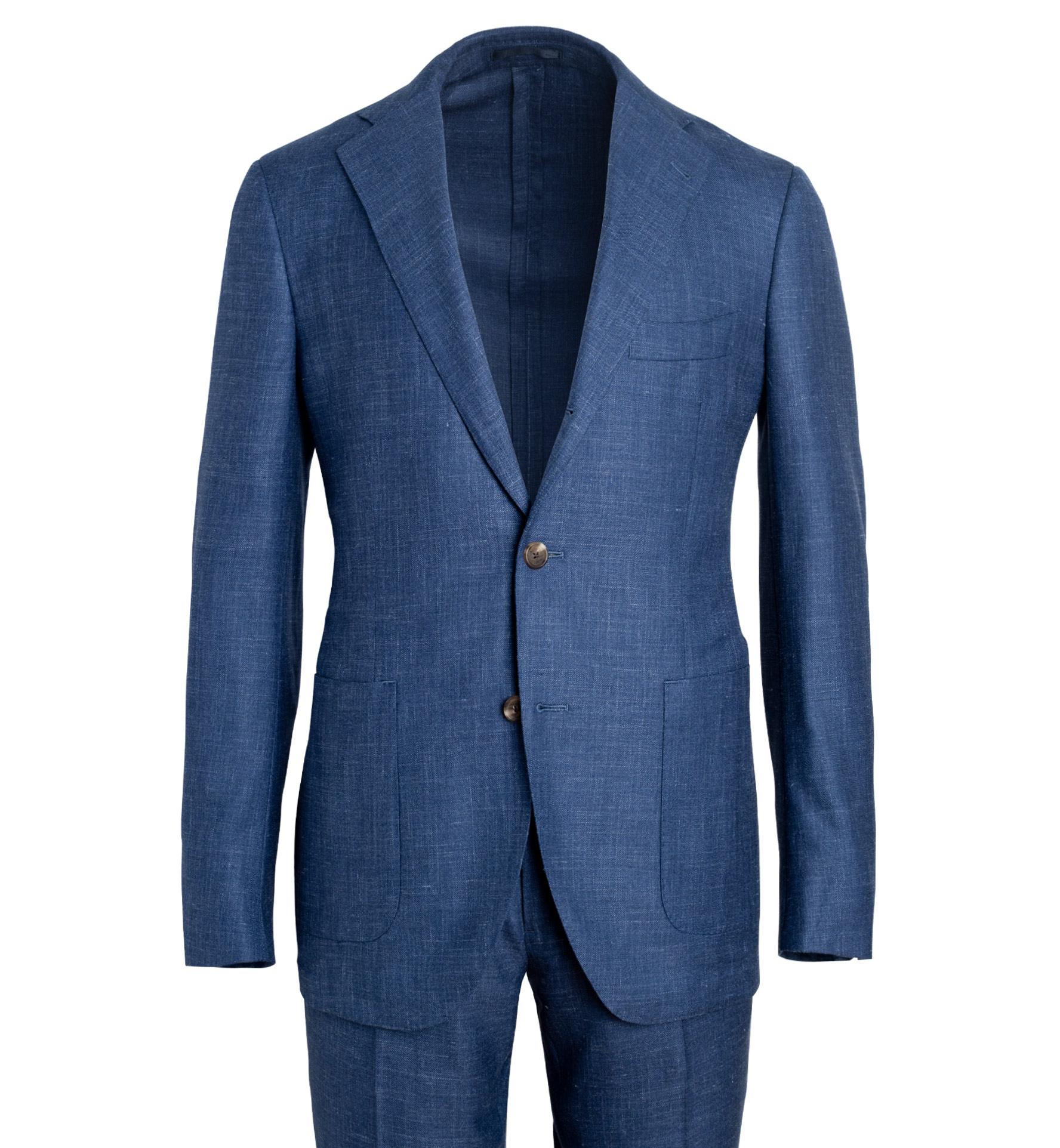 Zoom Image of Bedford Royal Blue Wool Silk and Linen Suit
