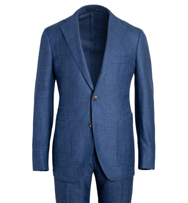 Bedford Royal Blue Wool Silk and Linen Suit