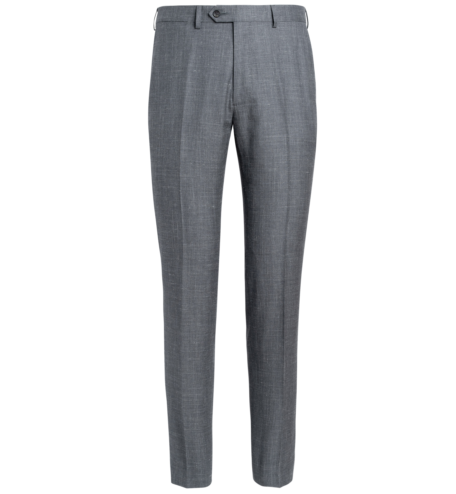 Zoom Image of Allen Grey Wool Silk and Linen Trouser