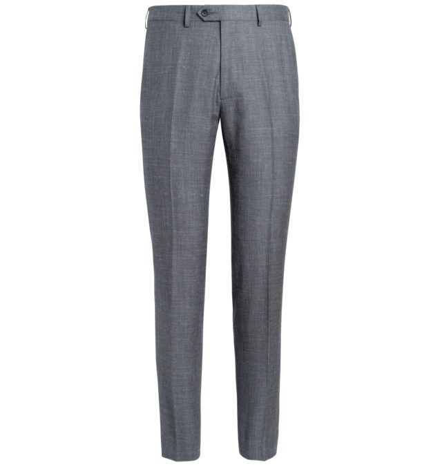 Allen Grey Wool Silk and Linen Trouser