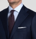 Zoom Thumb Image 5 of Allen Navy Melange S110s Comfort Wool Suit with Cuffed Trouser