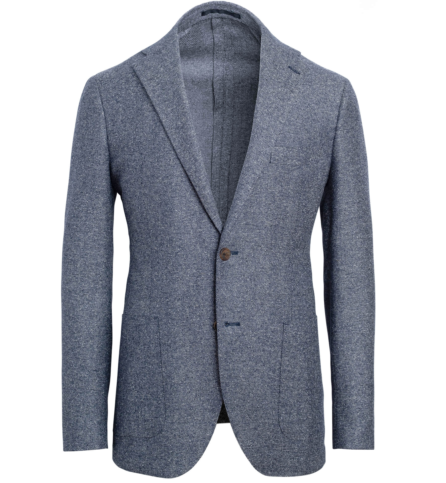 Zoom Image of Bedford Glacier Blue Wool and Silk Basketweave Jacket