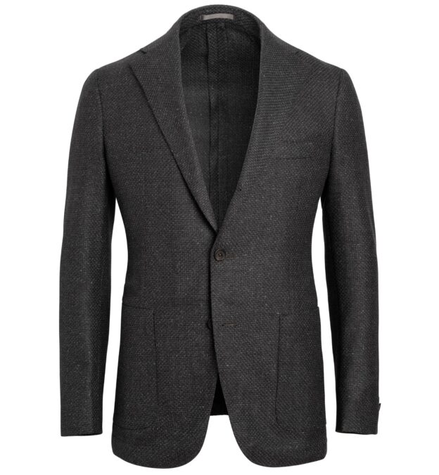 Bedford Dark Grey Melange Basketweave Jacket
