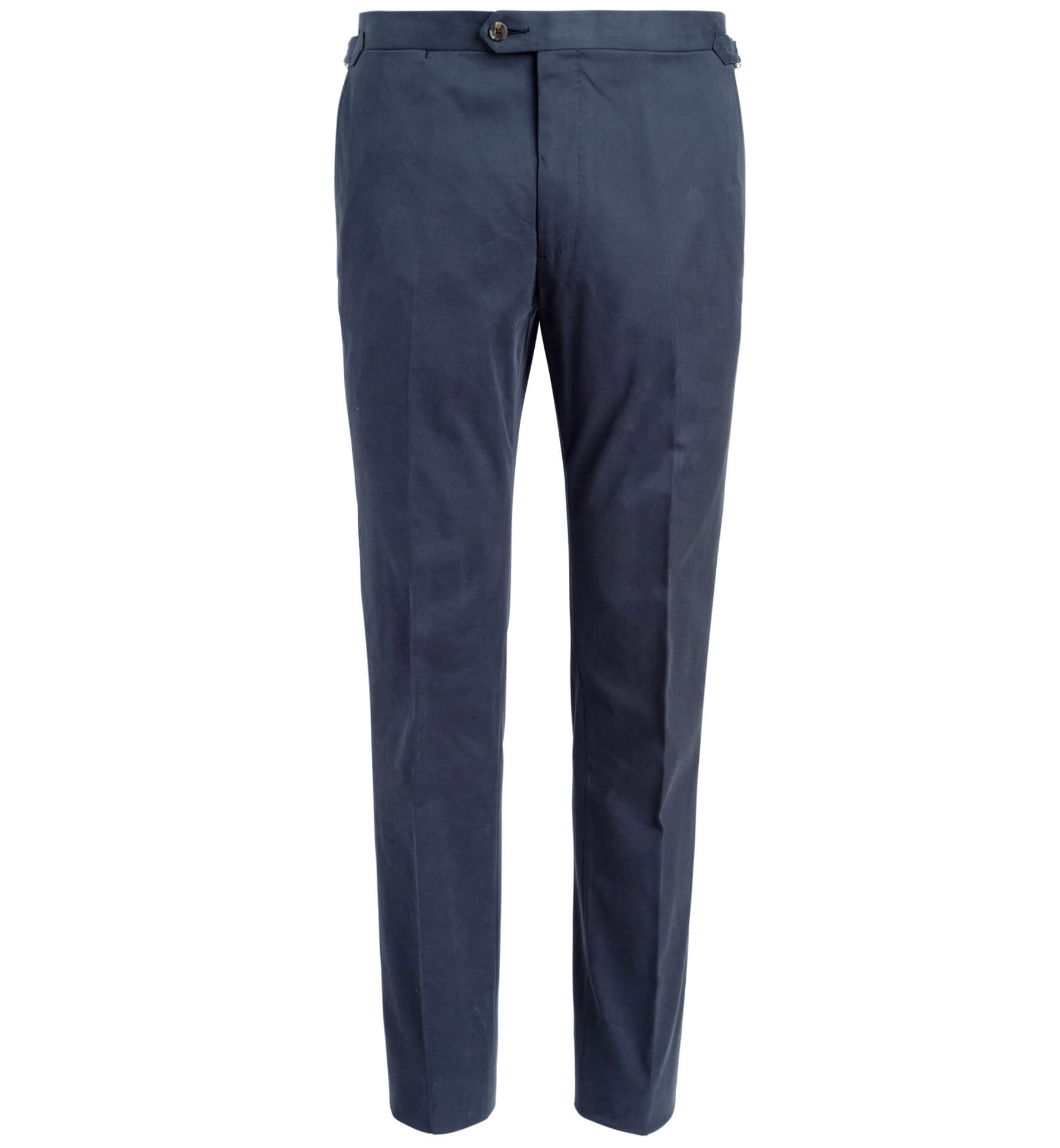 Zoom Image of Allen Navy Stretch Cotton Trouser