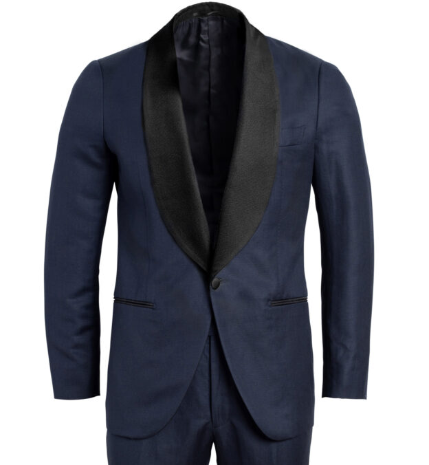 Mayfair Navy Wool and Linen Tuxedo