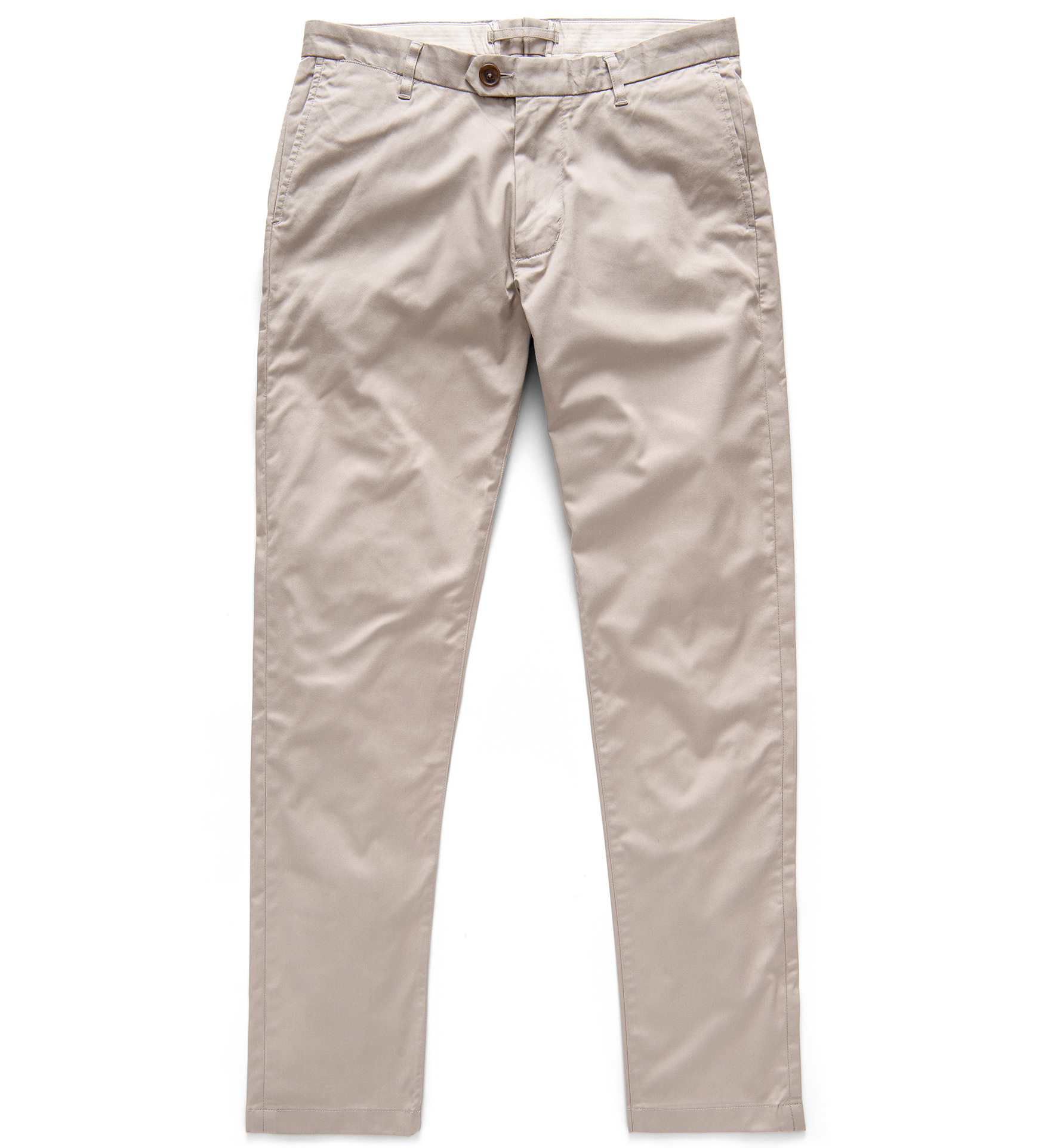 Zoom Image of Bowery Taupe Stretch Supima Cotton Chino