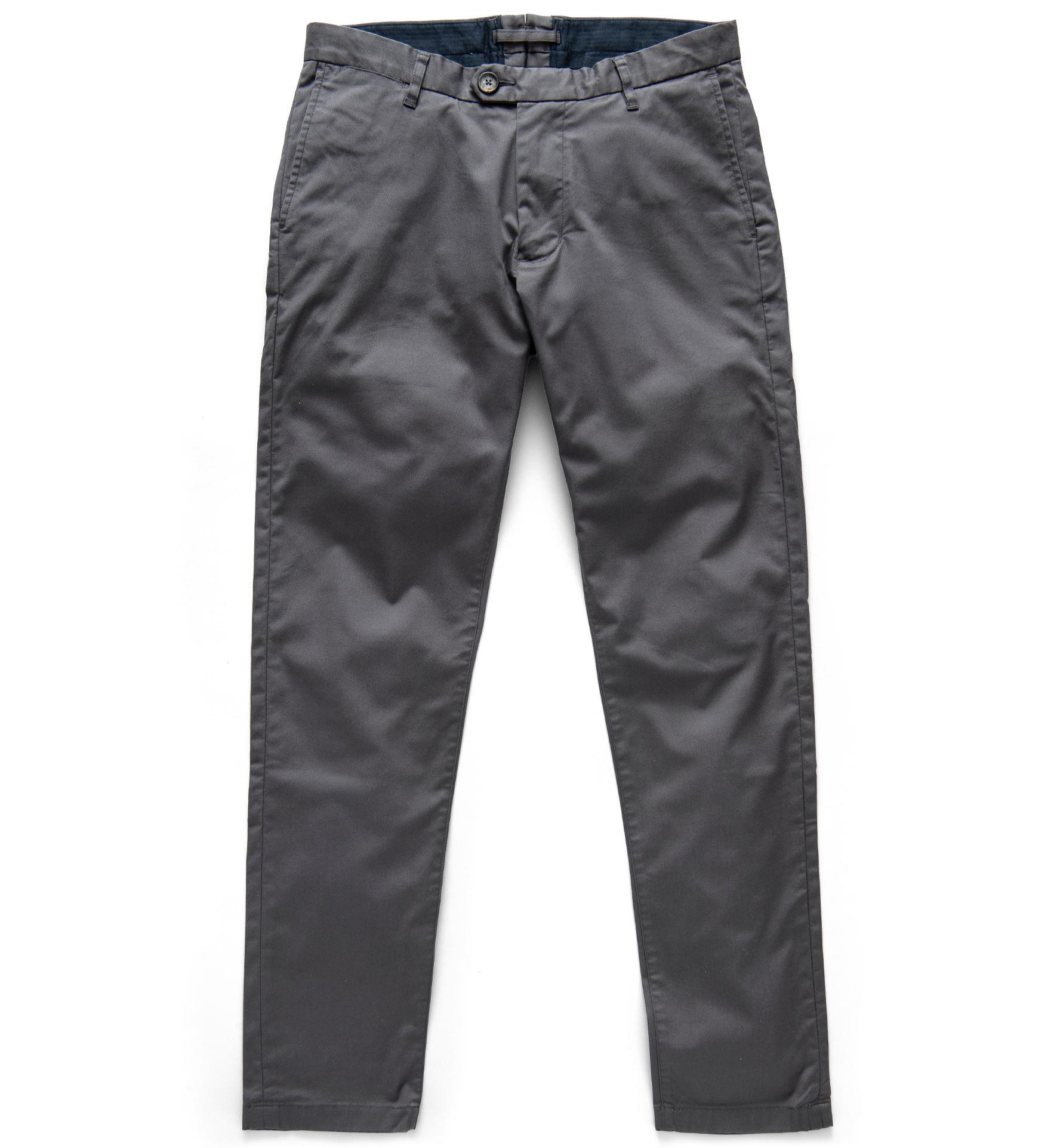 Zoom Image of Bowery Dark Grey Stretch Supima Cotton Chino