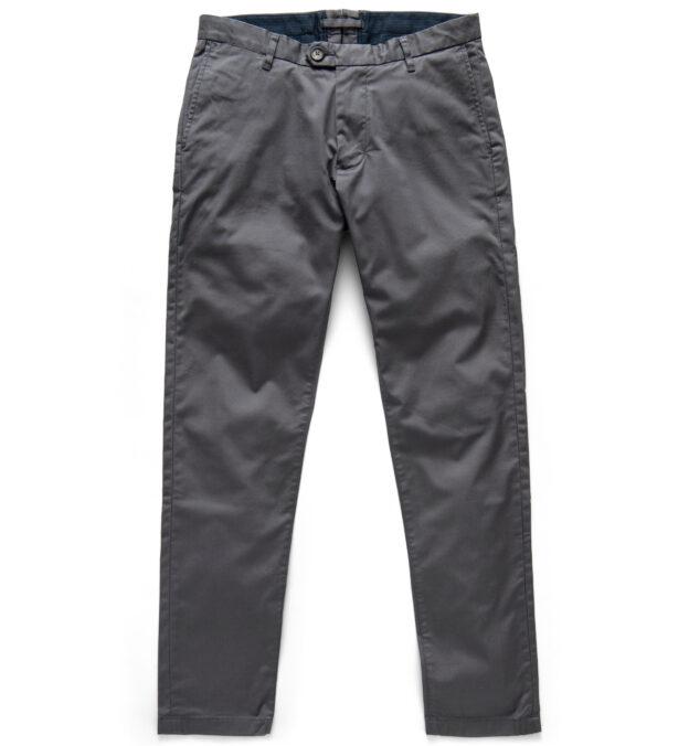 Bowery Dark Grey Stretch Supima Cotton Chino